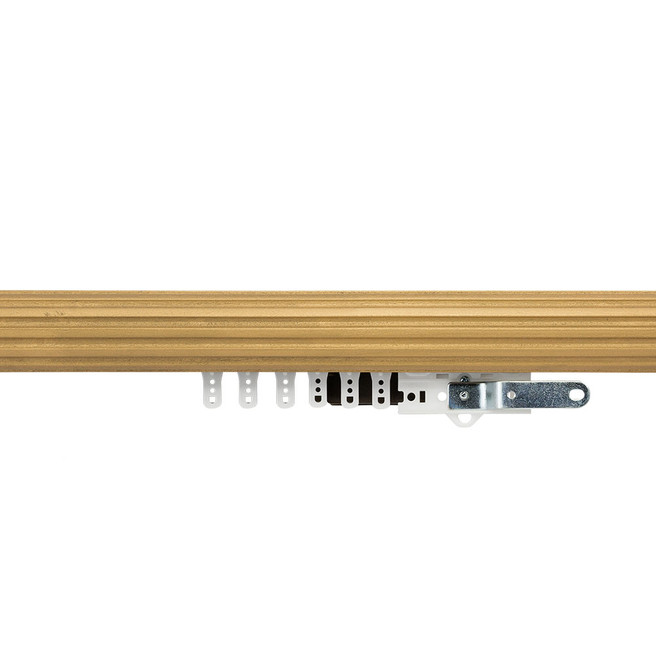1-3/4 in. Fluted Wood Traverse Rod