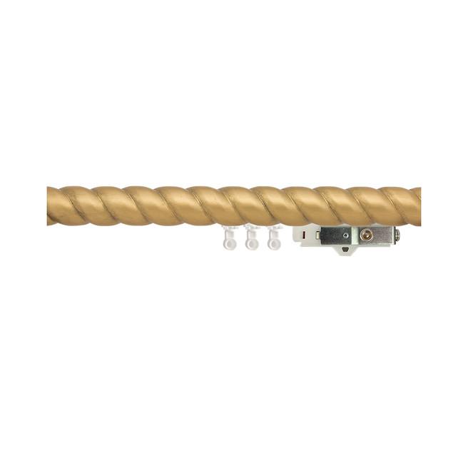 1-3/4 in. Carved Wood Ripplefold Drapery Rod