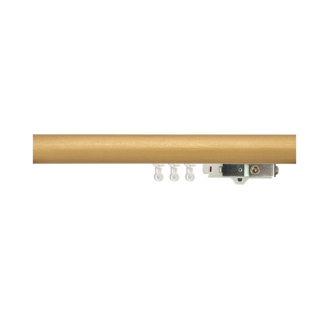 1-3/4 in. Smooth Wood Ripplefold Drapery Rod