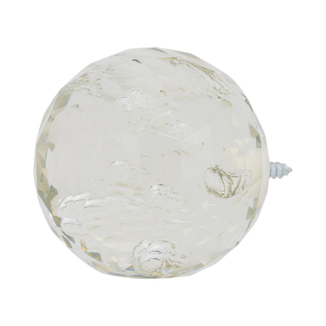 """Faceted Glass Bubble Ball Finial 1"""" Scale"""