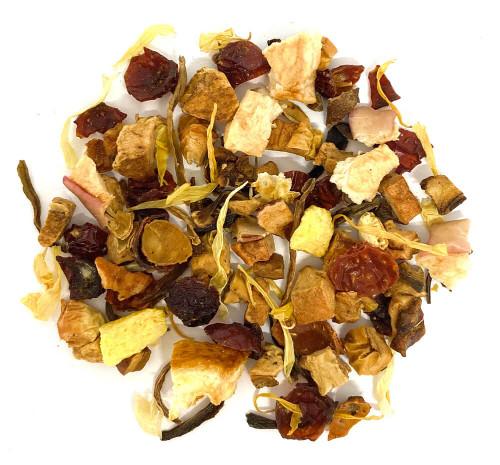 Juicy citrus orange herbal tea blend.