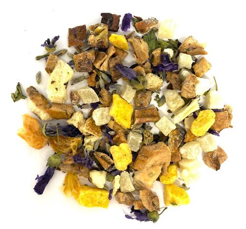 Citrus lavender sage herbal botanical tea blend.
