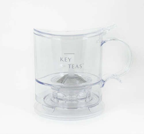 There is nothing more convenient than this Miracle Tea Brewer that appropriately allows full-leaf teas to dance and unfurl in the chamber. Watch the beautiful tea infuse and change color as it steeps. In the blink of an eye, the brewed tea dispenses into your favorite tea cup or pitcher.