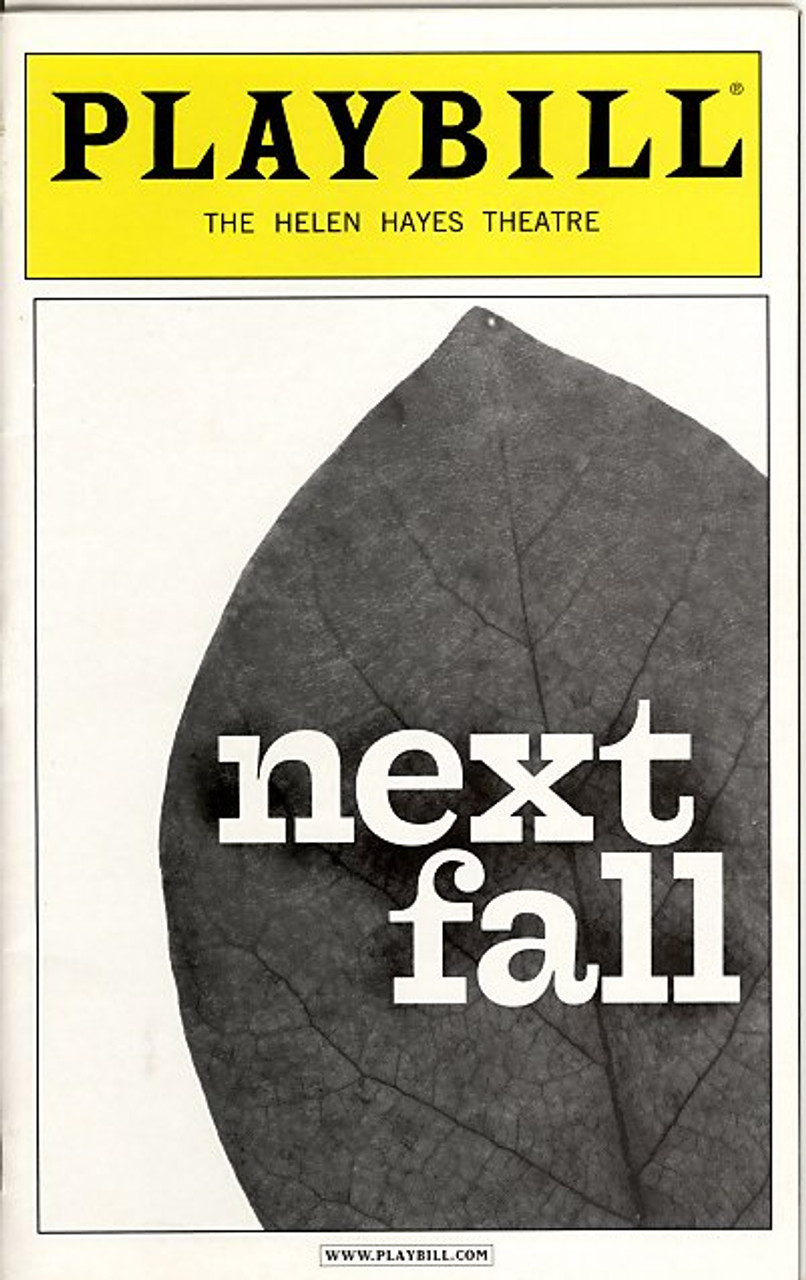 Playbill Next Fall Patrick Breen  Patrick Heusinger  Maddie Corman Cotter Smith
