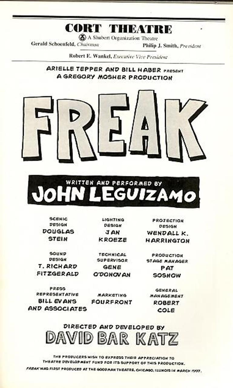 Freak Comix John Leguizamo #3 good condition 1//2018