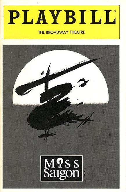 Miss Saigon (Jul 1991) OBC Jonathan Pryce, Lea Salonga, Willy Falk, Barry K Bernal Broadway Theatre