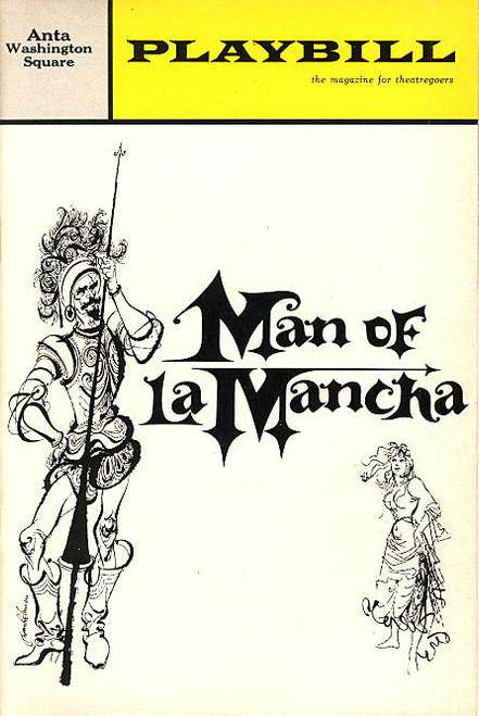 Man of La Mancha (Feb 1966) OBC Richard KIley, Irving Jacobson, Joan Diener Anta Washington Square Theatre