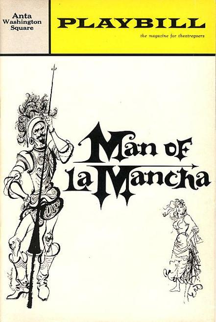 Man of La Mancha (Feb 1966) OBC Richard KIley, Irving Jacobson, Joan Diener Anta Washington Square Theatre