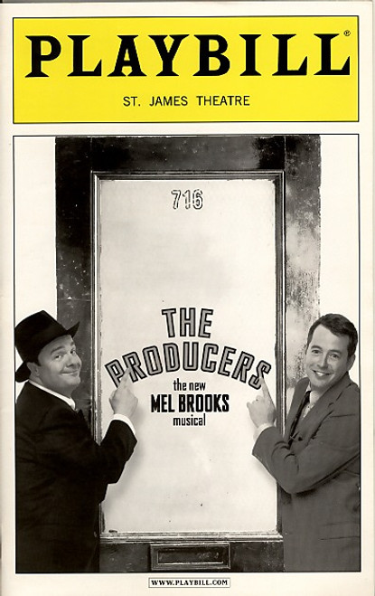 The Producers (Mar 2002) OBC  Nathan Lane, Matthew Broderick St James Theatre