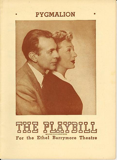 Pygmalion (Apr 1946) Gertrude Lawrence, Raymond Massey Ethel Barrymore Theatre