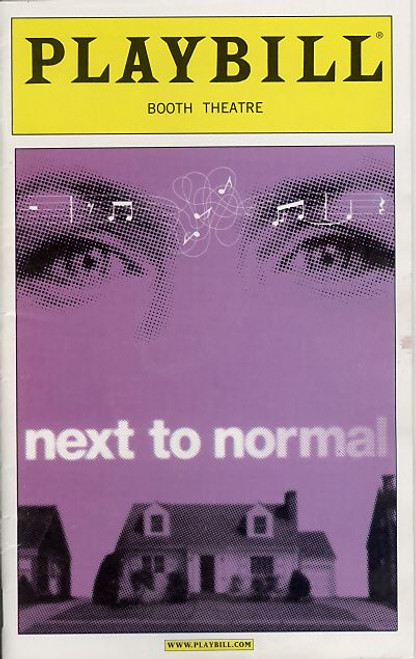 Next to Normal (May 2009) OBC Alice Ripley, J.Robert Spencer, Aaron Tveit Jennifer Damiano - Booth Theatre