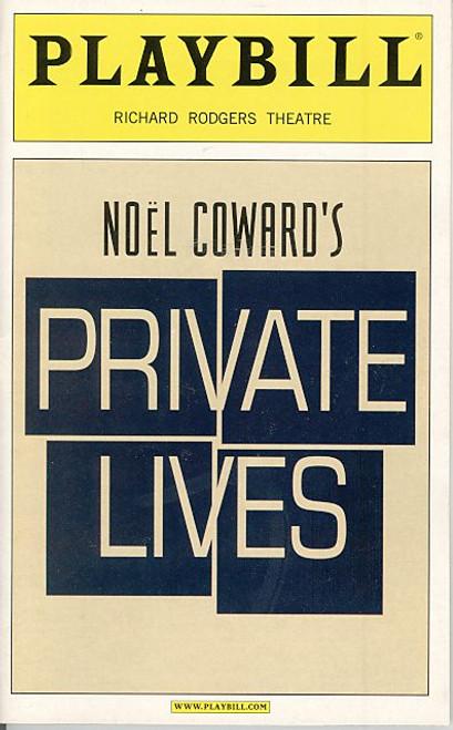 Private Lives (Apr 2002) Alan Rickman, Lindsay Duncan Richard Rodgers Theatre