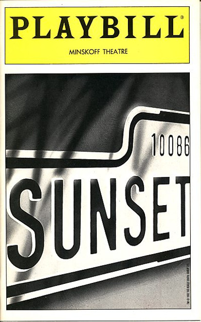 Sunset Boulevard (Apr 1995) Glenn Close, Alan Campbell, Alice Ripley, George Hearn - Minskoff Theatre