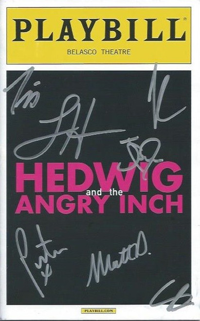 Hedwig and the Angry Inch is a rock musical about a fictional rock and roll band fronted by an East German transgender singer. The text is by John Cameron Mitchell, and the music and lyrics are by Stephen Trask.