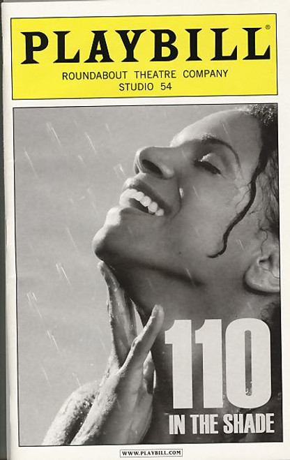 110 in the Shade April 2007 Playbill Cover