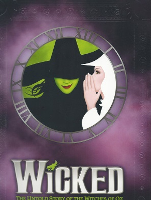 Wicked 10 year Anniversary Purple Souvenir Brochure, Wicked is a musical with music and lyrics by Stephen Schwartz and a book by Winnie Holzman.