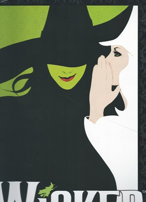 Wicked Souvenir Brochure, Wicked is a musical with music and lyrics by Stephen Schwartz and a book by Winnie Holzman.