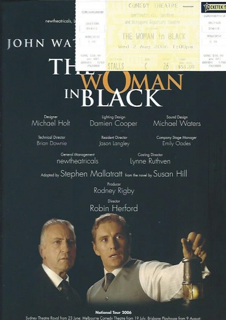 The Woman in Black is a 1987 stage play, adapted by Stephen Mallatratt. The play is based on the book of the same name, which was written in 1983 by Susan Hill.