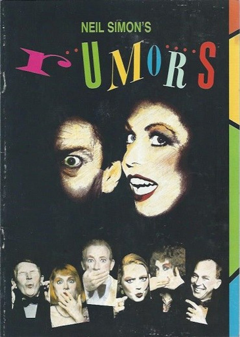 Rumors byNeil Simon– Australian Tour 1990, At its start, several affluent couples gather in the posh suburban residence of a couple for a dinner party celebrating their hosts' tenth anniversary.