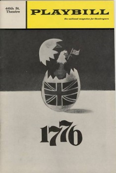 1776 the Musical April 1969 Playbill Cover