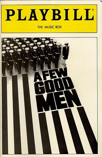 A Few Good Men is a play by Aaron Sorkin, first produced on Broadway by David Brown in 1989. It tells the story of military lawyers at a court-martial who uncover a high-level conspiracy in the course of defending their clients, United States Marines accused of murder.