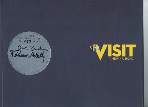 """""""The Visit"""" 2015 Collectors Piece, Tony Production Numbered Books, Signed by Terrence McNally John Kander, Chita Rivera, Roger Rees, Jason Danieley, David Garrison, Mary Beth Peil, George Abud"""