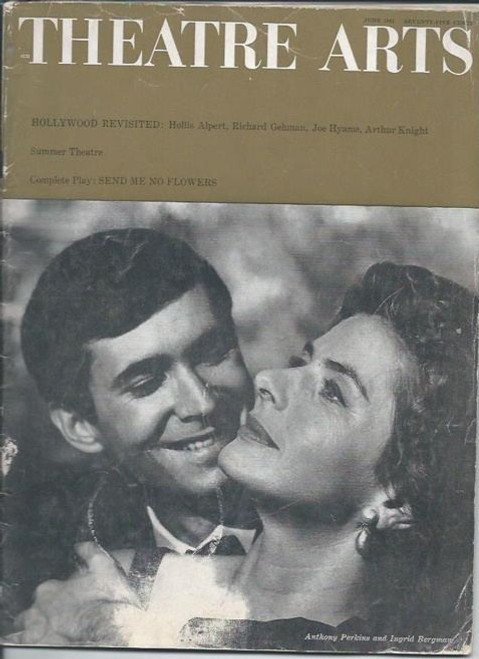 Theatre Arts Magazine 1961, Featuring Ingrid Bergman and Anthony Perkins, Theatre Arts Magazine, sometimes titled Theatre Arts or Theatre Arts Monthly