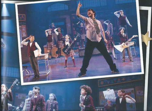 School of Rock, Souvenir Brochure, Alex Brightman - Sierra Boggess, School of Rock is a rock musical with music by Andrew Lloyd Webber, lyrics by Glenn Slater and a book by Julian Fellowes