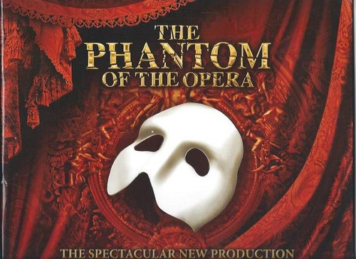 Phantom of the OperaChris Mann, The New Production USA Tour2013, Souvenir Brochure, The Phantom of the Opera is a musical with music by Andrew Lloyd Webber and lyrics by Charles Hart with additions from Richard Stilgoe