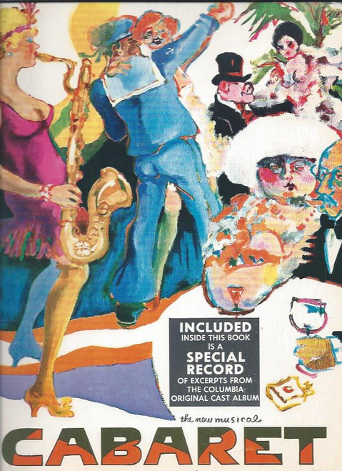 Cabaret the New Musical, Souvenir Brochure 1966 – 1969, Jill Haworth – Jack Gilford – Bert Convy - Joel Grey – includes Record Soundtrack Demo