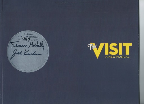 """""""The Visit"""" 2015 Collectors Piece, Tony Production Numbered Books, Signed by Terrence McNally John Kander"""