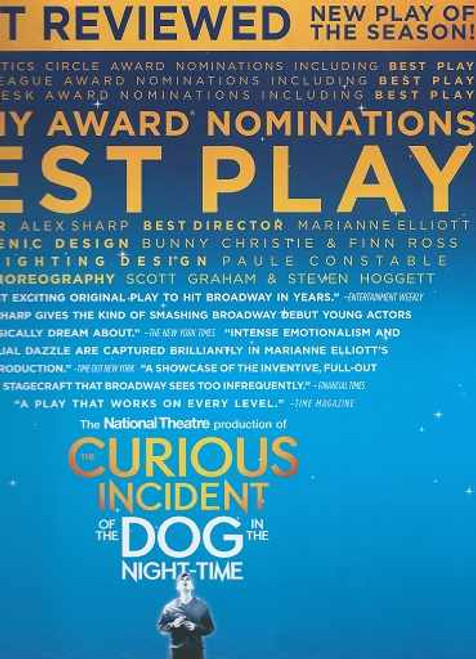 The Curious Incident of the Dog in the Night Time, Tony Voter Special Cover, National Theatre Production Broadway, Alex Sharp – Souvenir Brochure 2014 - 2015