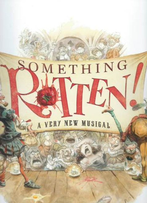 """""""Something Rotten""""Souvenir Brochure OBC, Brian d'Arcy - Christian Borle, Brad Oscar, Broadway 2015, Something Rotten! is a musical comedy with book by John O'Farrell and Karey Kirkpatrick and music and lyrics by Karey and Wayne Kirkpatrick."""