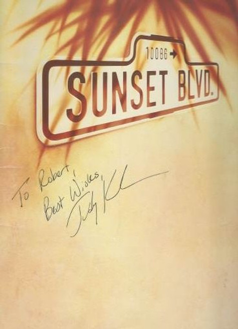 Sunset Boulevard 1993 signed by Judy Kuhn, Shubert Theatre Los Angeles, Glen Close - Alan Campbell - Judy Kuhn, Sunset Boulevard is a musical with book and lyrics by Don Black and Christopher Hampton and music by Andrew Lloyd Webber.