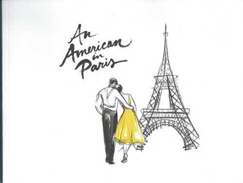 An American in Paris on Broadway, Design Book Autographed by Veanne Cox, Something Very Special to a Broadway Memorabilia Collector, Look through the eyes of artist Andrea Selby, as she illustrates the magic and moments of AN AMERICAN IN PARIS!