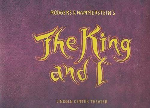 The King and I Souvenir Brochure 2015 Season Featuring Kelli O'Hara Ken Watanabe