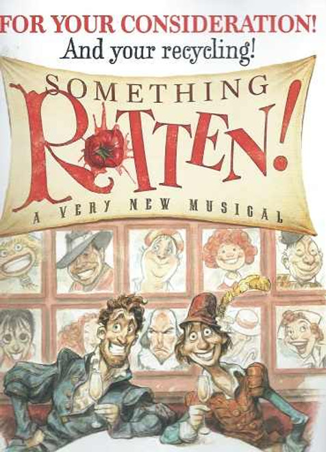"""Something Rotten"" Tony Voter Souvenir Program, Brian d'Arcy - Christian Borle, Brad Oscar, Broadway 2015 Tony Awards A Tony ""For your Consideration' brochure is sent to all Tony Voters, so they can read the reviews, check out the actors and the production value. A Rare collectors piece, check out all the pictures below."