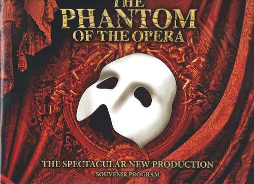 Phantom of the Opera Mark Campbell, The New Production USA Tour 2014, Souvenir Brochure, The Phantom of the Opera is a musical with music by Andrew Lloyd Webber and lyrics by Charles Hart with additions from Richard Stilgoe