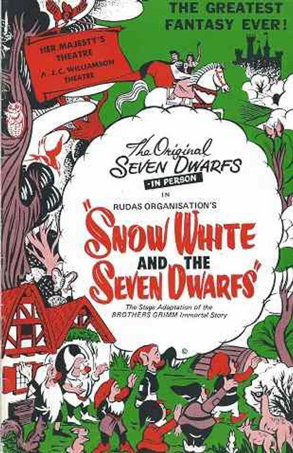 "Snow White and the Seven Dwarfs, A J C Williams Australian Tour 1974, Snow White"" is a German fairy tale known across much of Europe and is today one of the most famous fairy tales worldwide"