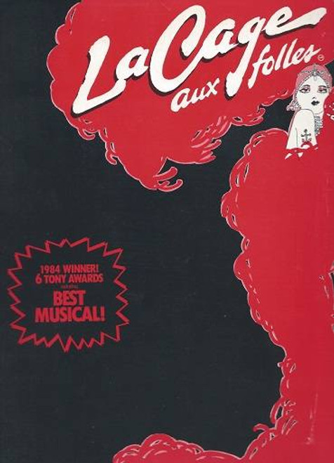 La Cage Aux Folles Original Broadway Souvenir Brochure, Featuring Gene Barry and George Hearn, But with Tour cast insert (Walter Charles and Steeve Arlen)