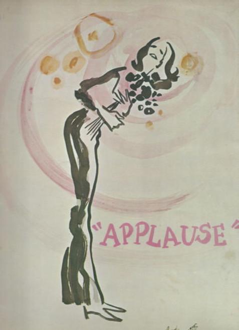 Applause (Musical) Broadway 1970 - 1972, Lauren Bacall - Len Cariou - Robert Mandan - Bonnie Franklin, applause program, applause souvenir program, broadway musicals, applause broadway musical