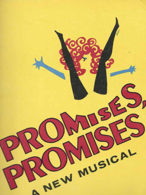 Promises Promises (Musical) Broadway 1968, Jerry Orbach - Jill O'Hara - Edward Winter, Promises Program, Promises Promises Program, Show Programs, Program Souvenirs