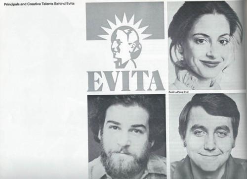 Evita on Broadway 1979 OBC, Patti Lupone - Mandy Patinkin - Bob Gunton - Jane Ohringer, Evita Program, Evita Souvenir Program, Broadway Musicals Programs, Broadway Shows