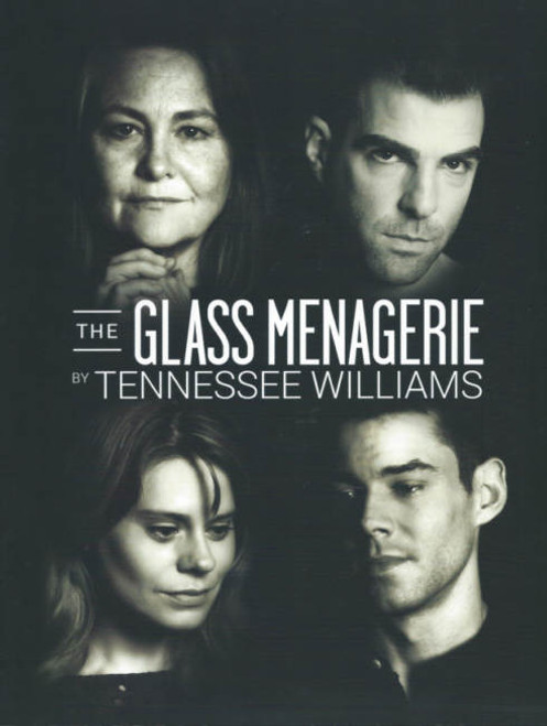The Glass Menagerie Broadway 2013 - 2014, Cherry Jones - Zachary Quinto - Celia Keenan-Bolger - Brian J Smith, The Glass Menagerie programs, The Glass Menagerie play program, The Glass Menagerie show program, broadway plays