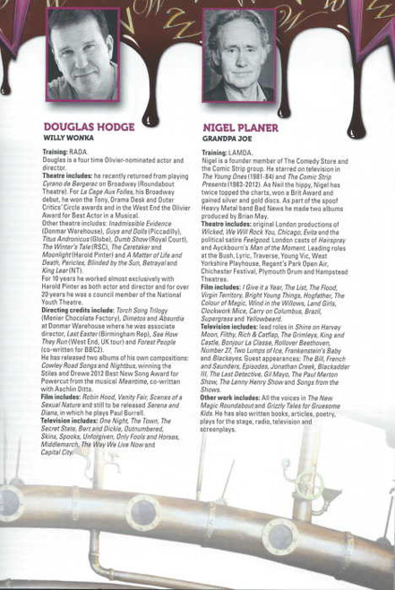Charlie and the Chocolate Factory (Musical) Douglas Hodge, Nigel Planer, Clive Carter London Program 2014 London Production (Original Cast)