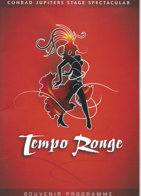 Tempo Rouge 2006 Jupiters Casino Gold Coast Australia, Souvenir Program Daniela Zoppe, Justino Zoppe, Hugo Zamoratte, Tony Lee Scott, Tony Bartuccio