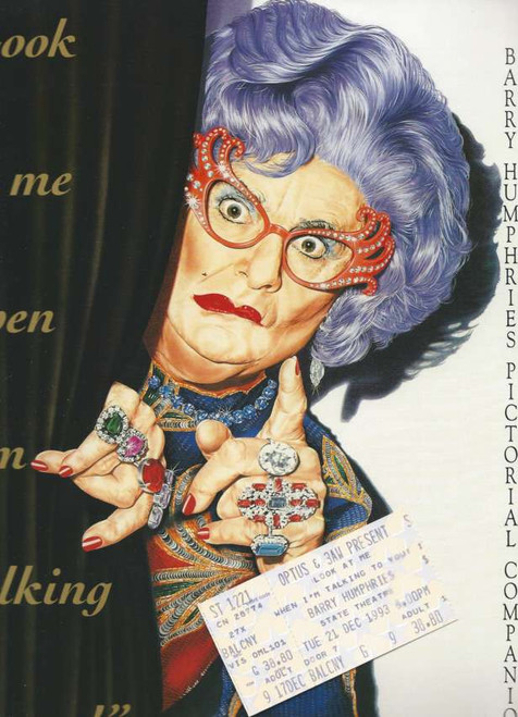 Look at Me When I'm Talking to You, Souvenir Brochure 1993 State Theatre Sydney with one Ticket, Colourful Pictures of Edna and clan