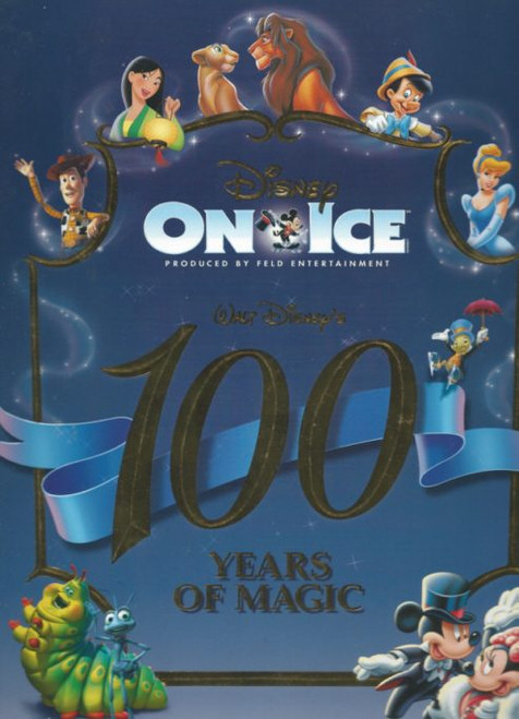 Disney on Ice 100 Years of Magic (Variety) Australian Tour 1999, Souvenir Brochure - Minnie, Mickey, Pinocchio, Toy Story, Beauty and the Beast, Ariel, Pocahontas