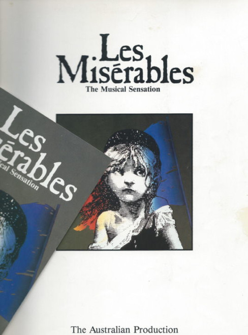 Les Miserables (Musical) Alain Boublil, Claude-Michel Schonberg Theatre Royal Sydney 1988, Souvenir Brochure - Normie Rowe, Philip Quast, Simon Burke