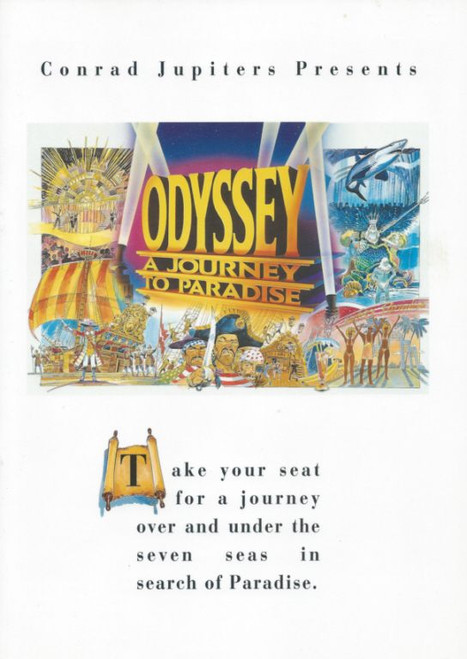 Odyssey a Journey to Paradise (Cabaret) Jupiters Casino Gold Coast Australia, Souvenir Brochure - November 1993 Margot Beech, Sharon Escott, Adrian Goodfello